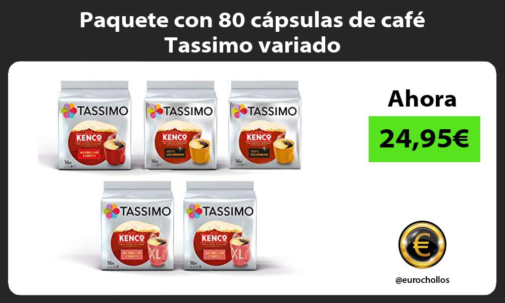 Paquete con 80 cápsulas de café Tassimo variado