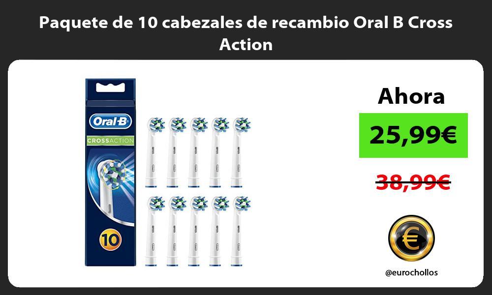 Paquete de 10 cabezales de recambio Oral B Cross Action