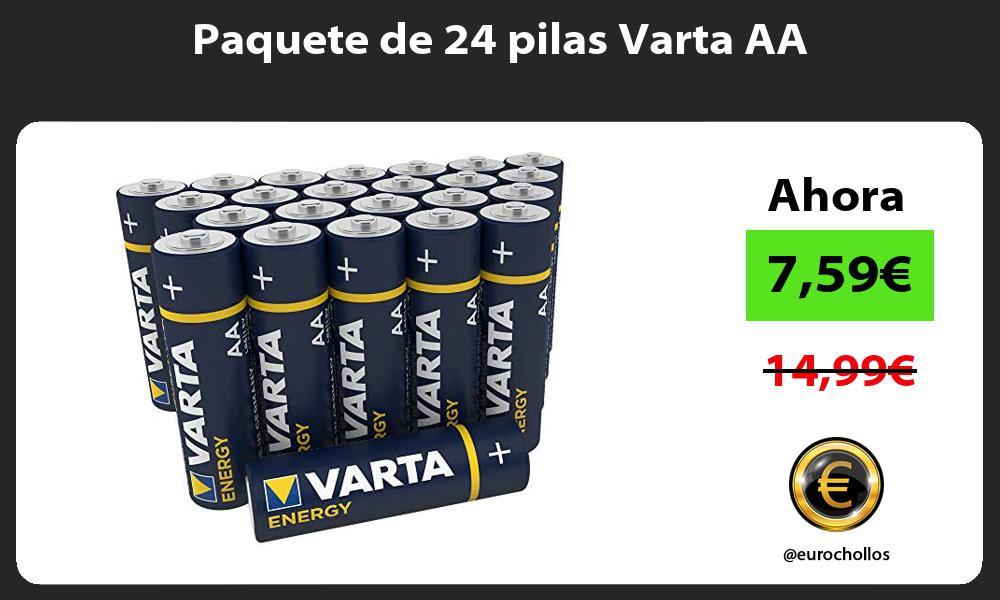 Paquete de 24 pilas Varta AA