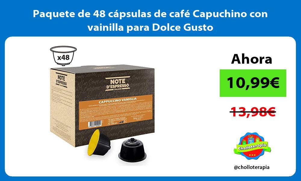 Paquete de 48 cápsulas de café Capuchino con vainilla para Dolce Gusto