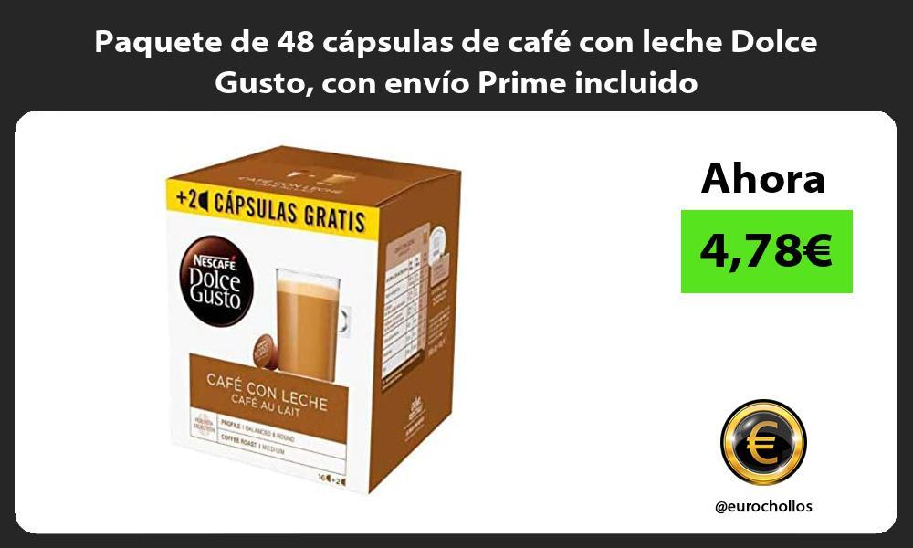 Paquete de 48 cápsulas de café con leche Dolce Gusto con envío Prime incluido