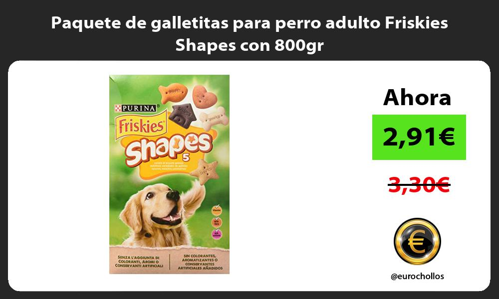 Paquete de galletitas para perro adulto Friskies Shapes con 800gr
