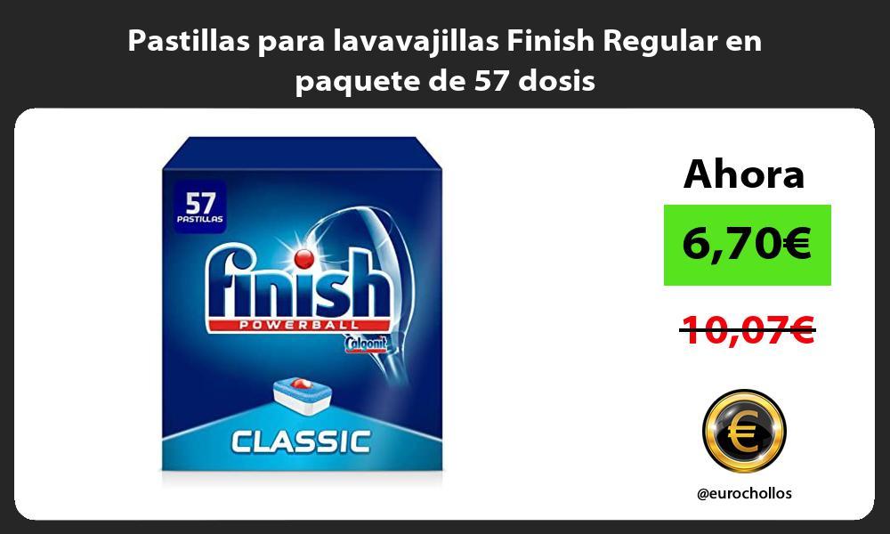 Pastillas para lavavajillas Finish Regular en paquete de 57 dosis