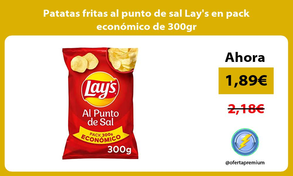 Patatas fritas al punto de sal Lays en pack económico de 300gr