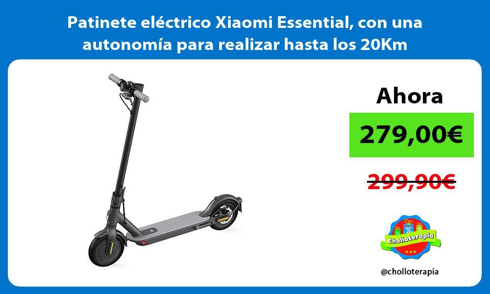 Patinete eléctrico Xiaomi Essential con una autonomía para realizar hasta los 20Km