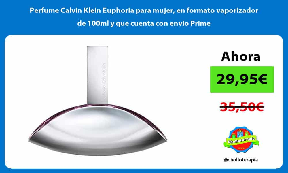 Perfume Calvin Klein Euphoria para mujer en formato vaporizador de 100ml y que cuenta con envío Prime