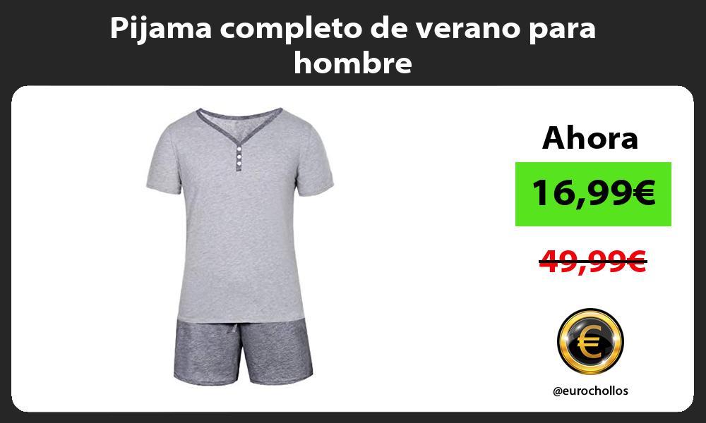 Pijama completo de verano para hombre