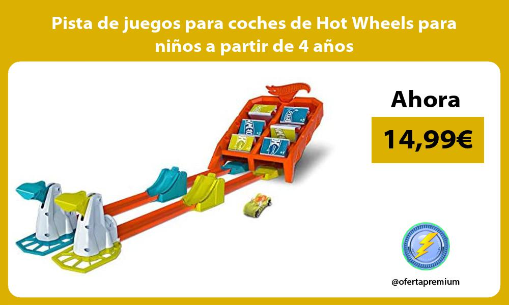 Pista de juegos para coches de Hot Wheels para niños a partir de 4 años