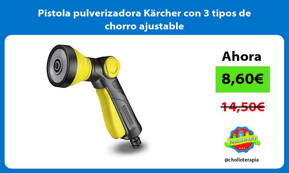 Pistola pulverizadora Kärcher con 3 tipos de chorro ajustable