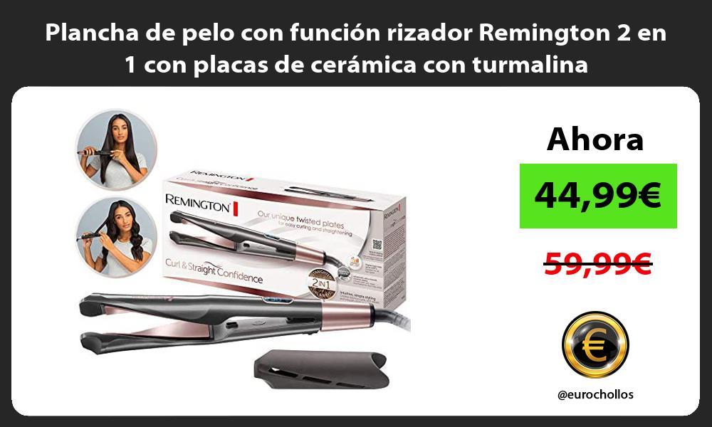 Plancha de pelo con función rizador Remington 2 en 1 con placas de cerámica con turmalina