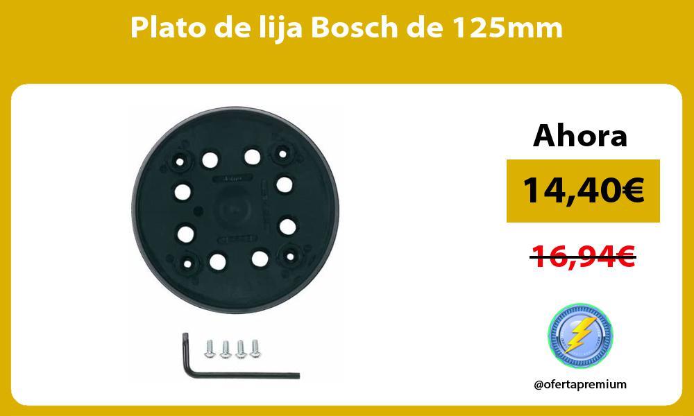 Plato de lija Bosch de 125mm