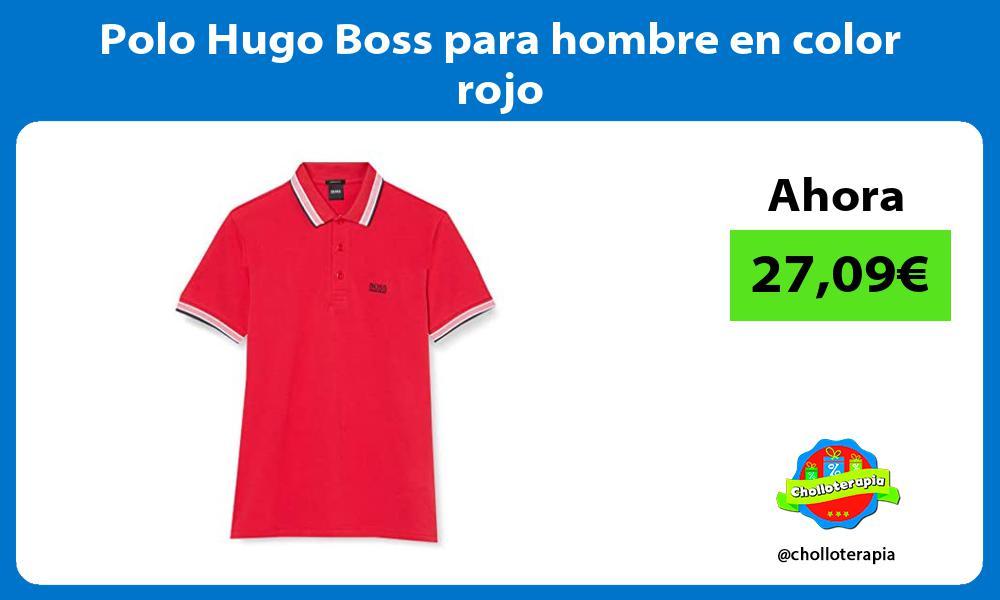 Polo Hugo Boss para hombre en color rojo