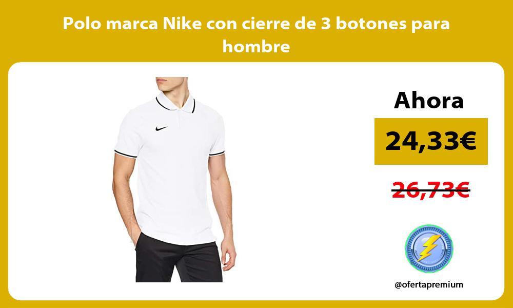 Polo marca Nike con cierre de 3 botones para hombre