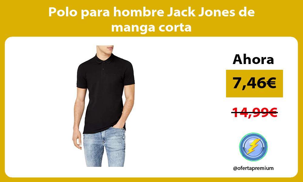 Polo para hombre Jack Jones de manga corta