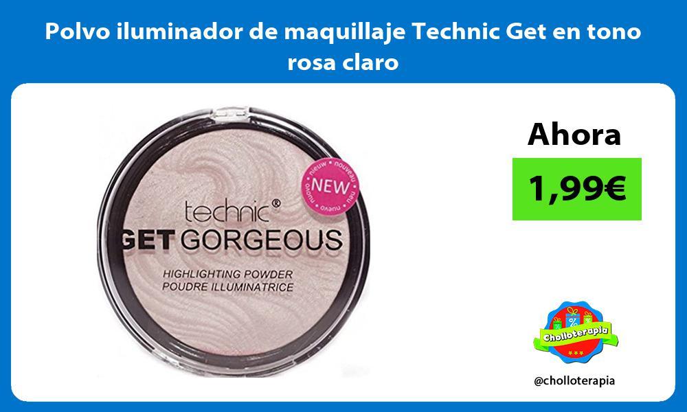 Polvo iluminador de maquillaje Technic Get en tono rosa claro