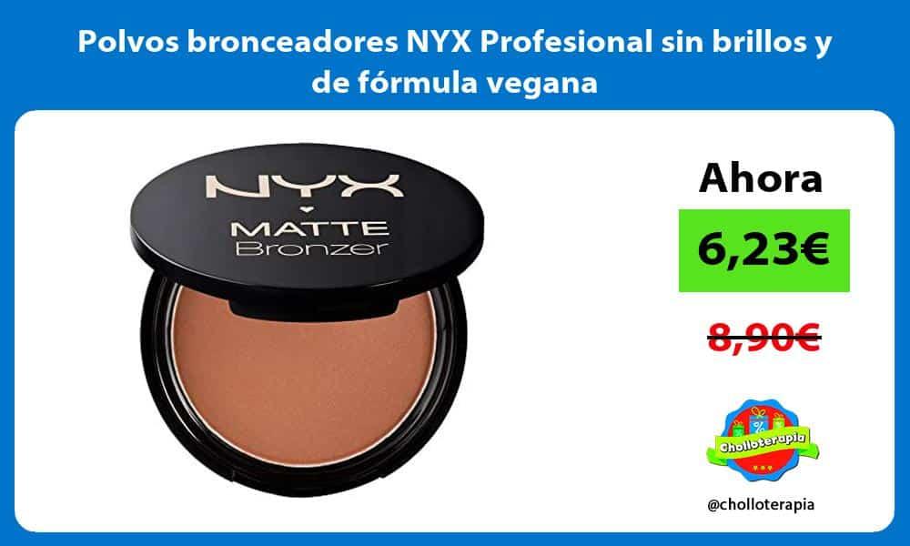 Polvos bronceadores NYX Profesional sin brillos y de fórmula vegana