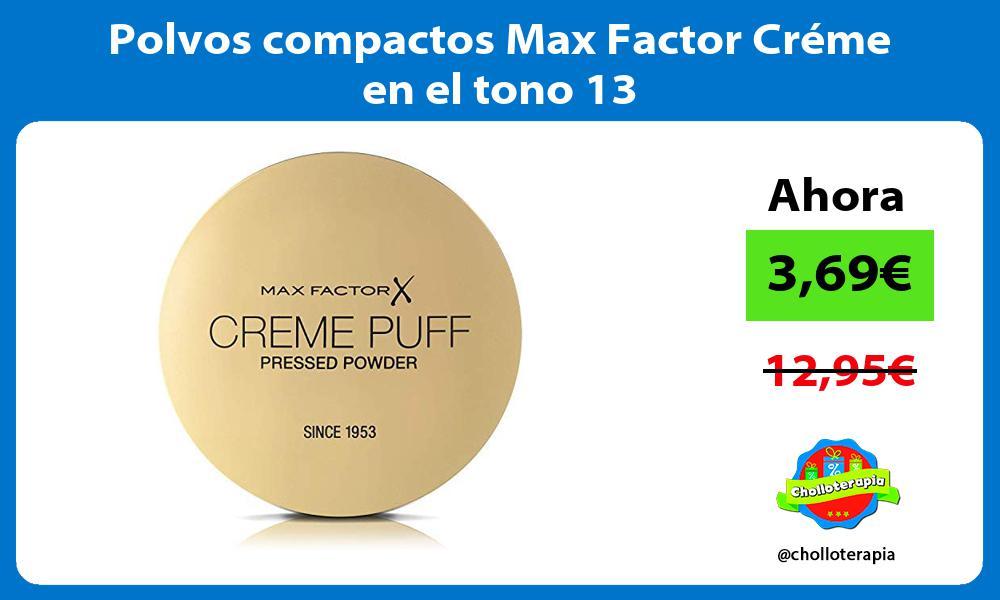 Polvos compactos Max Factor Créme en el tono 13