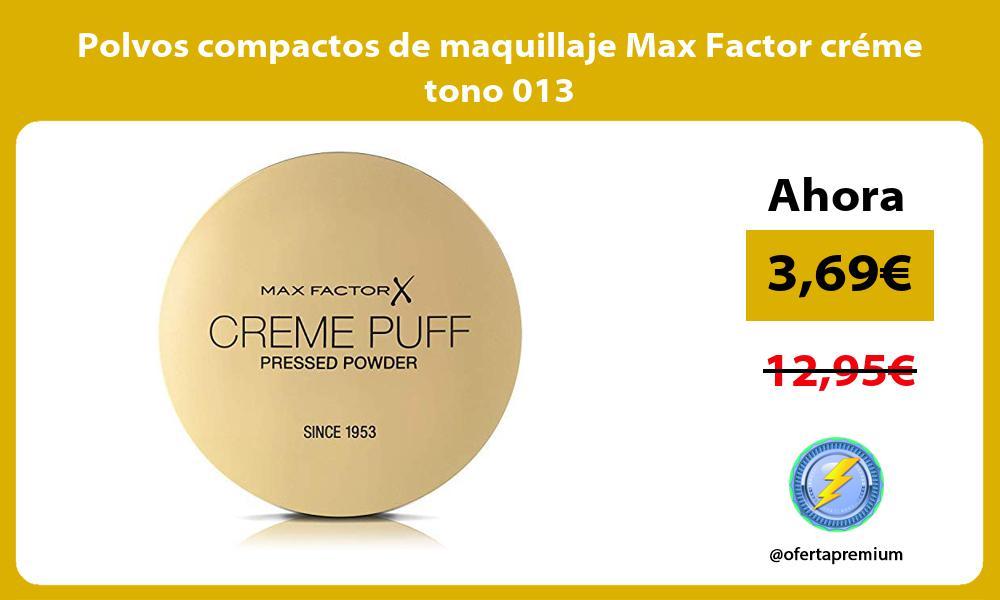 Polvos compactos de maquillaje Max Factor créme tono 013