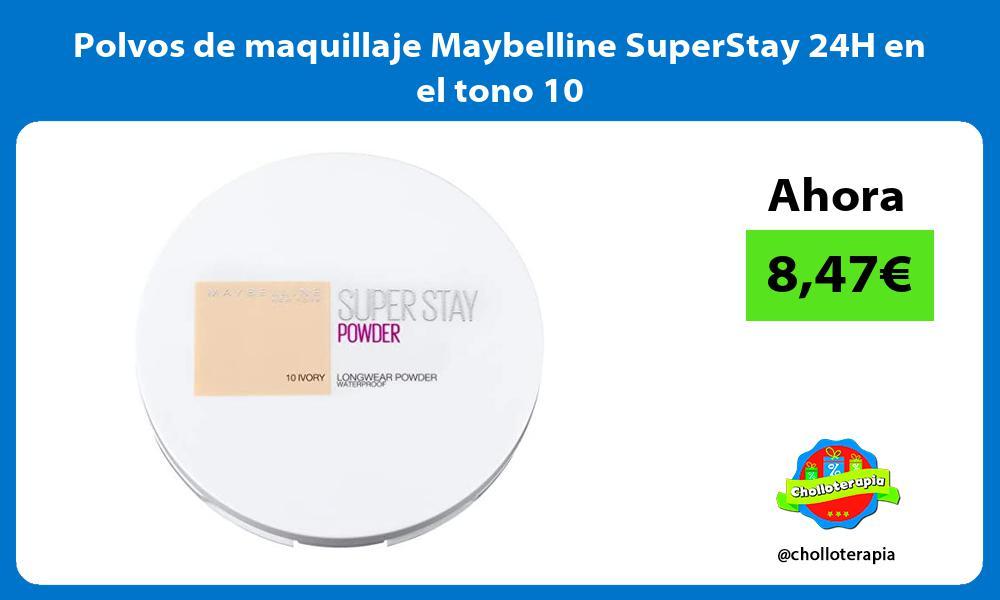 Polvos de maquillaje Maybelline SuperStay 24H en el tono 10