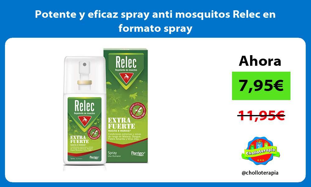 Potente y eficaz spray anti mosquitos Relec en formato spray