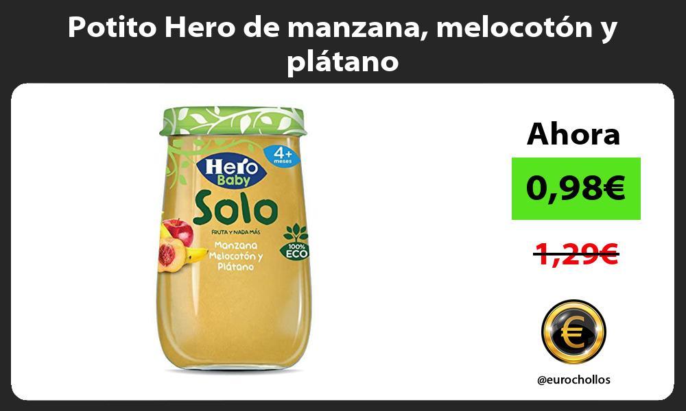 Potito Hero de manzana melocotón y plátano