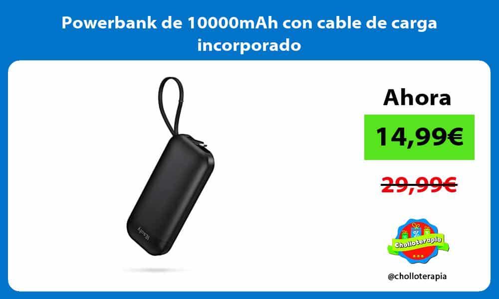 Powerbank de 10000mAh con cable de carga incorporado