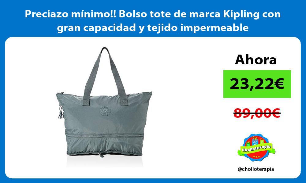 Preciazo mínimo Bolso tote de marca Kipling con gran capacidad y tejido impermeable