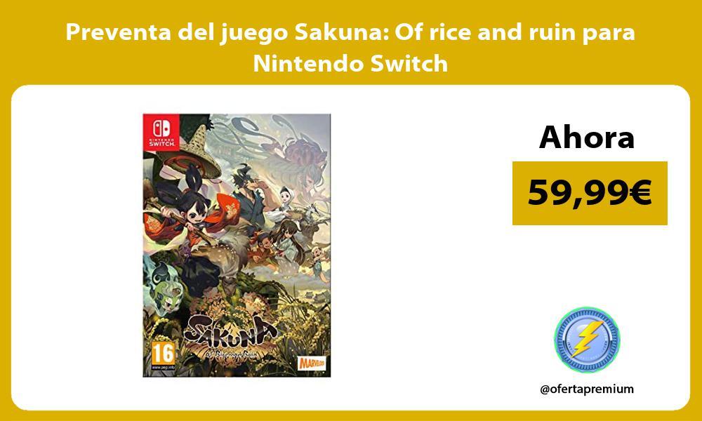 Preventa del juego Sakuna Of rice and ruin para Nintendo Switch