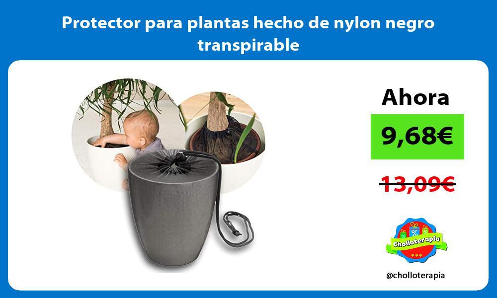 Protector para plantas hecho de nylon negro transpirable
