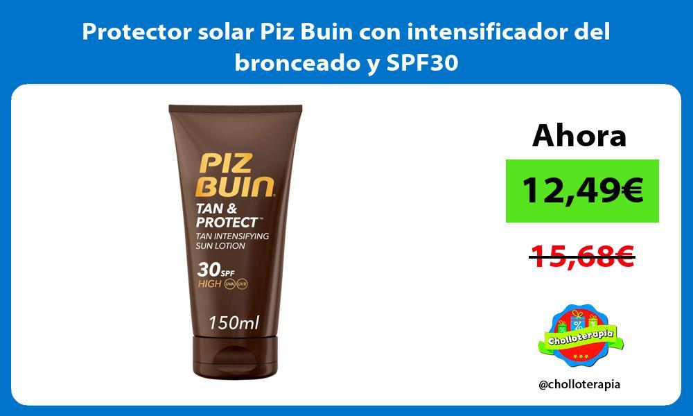 Protector solar Piz Buin con intensificador del bronceado y SPF30