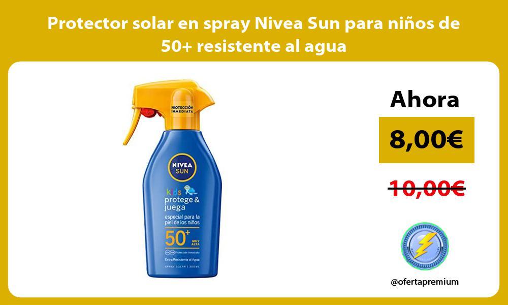 Protector solar en spray Nivea Sun para niños de 50 resistente al agua