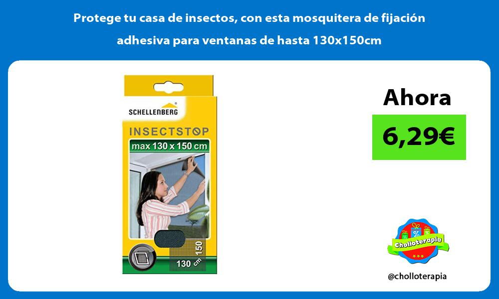 Protege tu casa de insectos con esta mosquitera de fijación adhesiva para ventanas de hasta 130x150cm