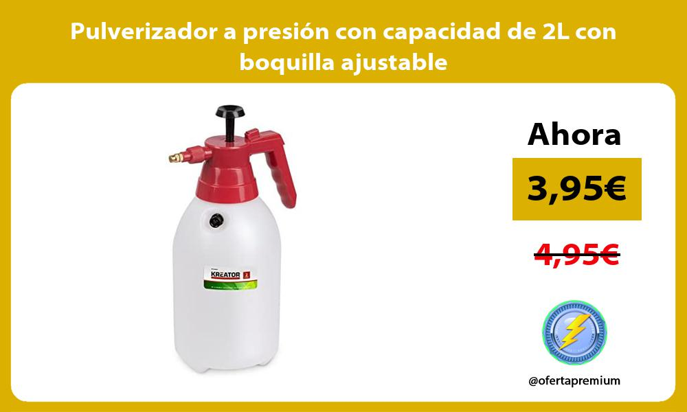 Pulverizador a presión con capacidad de 2L con boquilla ajustable