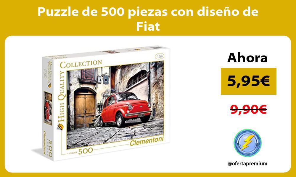 Puzzle de 500 piezas con diseño de Fiat