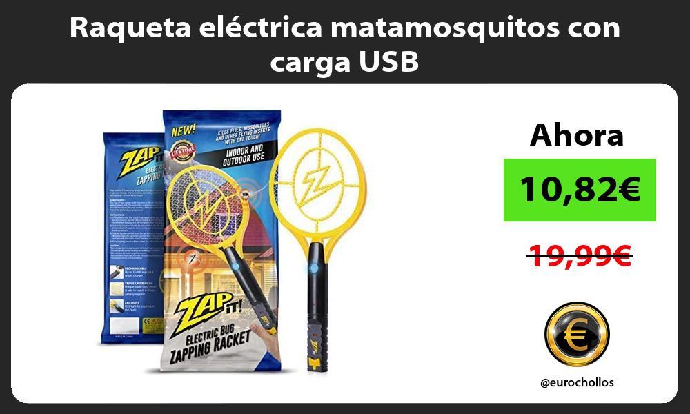 Raqueta eléctrica matamosquitos con carga USB