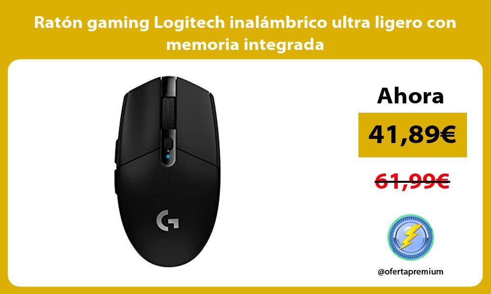 Ratón gaming Logitech inalámbrico ultra ligero con memoria integrada