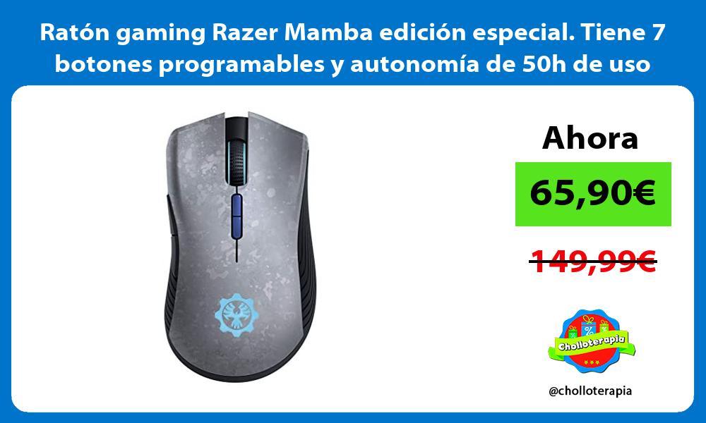 Ratón gaming Razer Mamba edición especial Tiene 7 botones programables y autonomía de 50h de uso