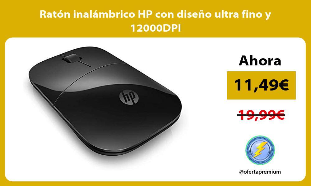 Ratón inalámbrico HP con diseño ultra fino y 12000DPI
