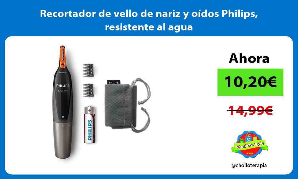 Recortador de vello de nariz y oídos Philips resistente al agua
