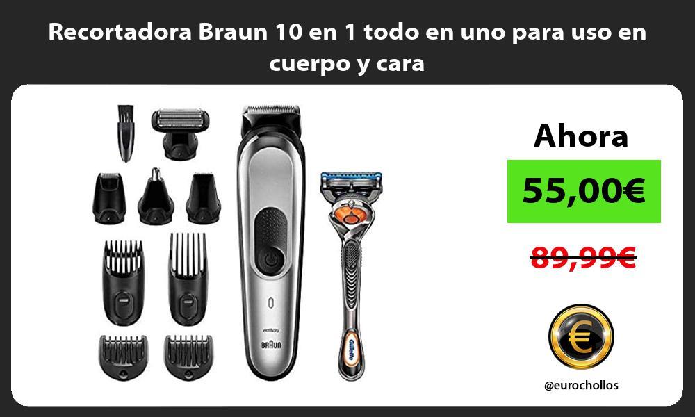 Recortadora Braun 10 en 1 todo en uno para uso en cuerpo y cara