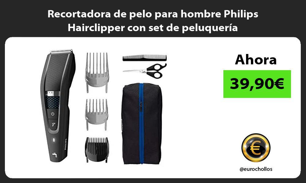 Recortadora de pelo para hombre Philips Hairclipper con set de peluquería