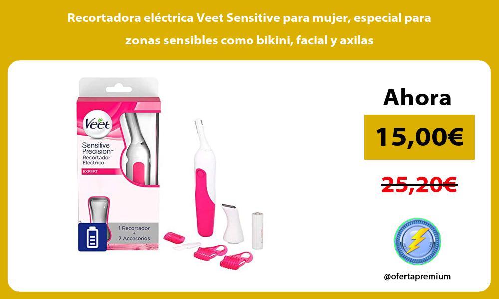 Recortadora eléctrica Veet Sensitive para mujer especial para zonas sensibles como bikini facial y axilas