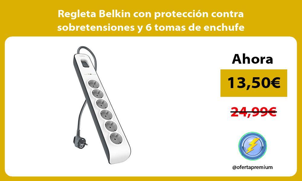 Regleta Belkin con protección contra sobretensiones y 6 tomas de enchufe