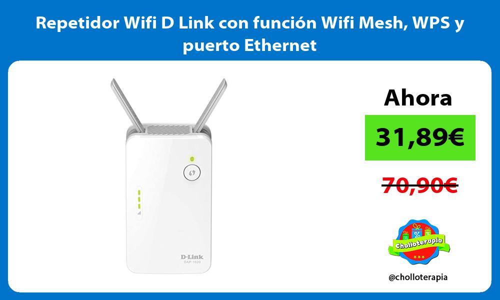 Repetidor Wifi D Link con función Wifi Mesh WPS y puerto Ethernet
