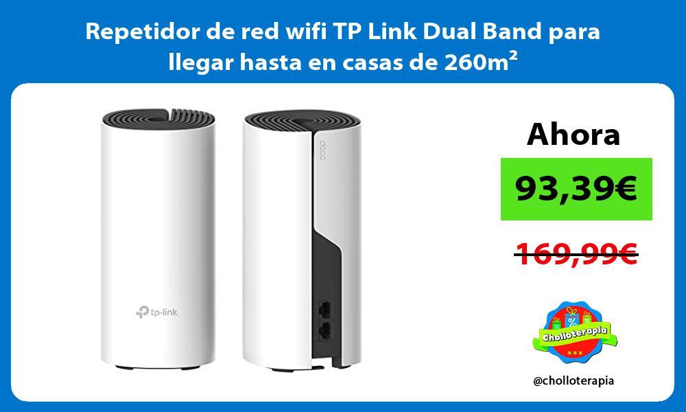 Repetidor de red wifi TP Link Dual Band para llegar hasta en casas de 260m²