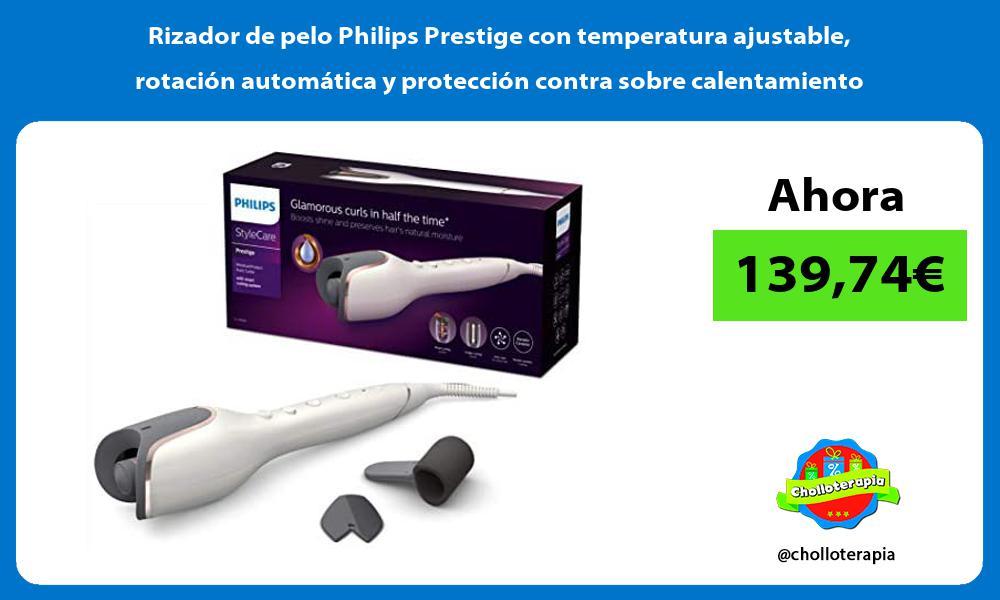 Rizador de pelo Philips Prestige con temperatura ajustable rotación automática y protección contra sobre calentamiento