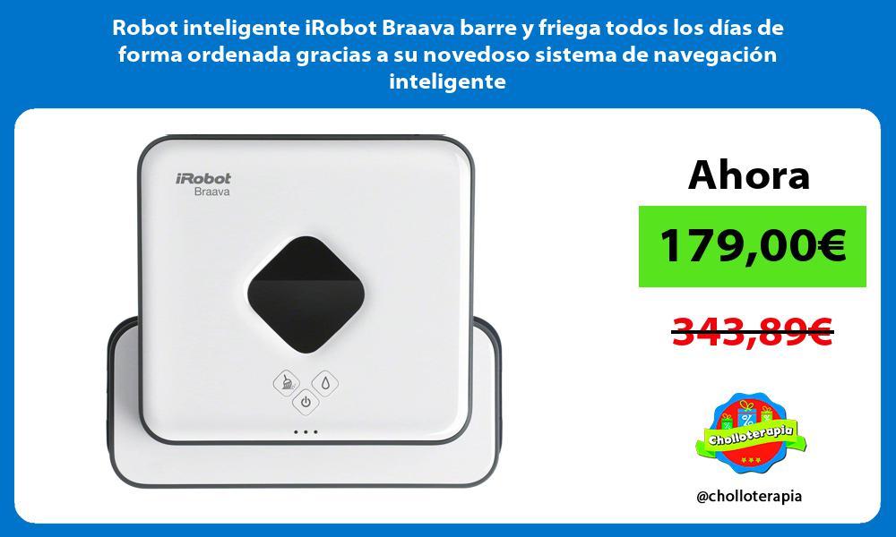 Robot inteligente iRobot Braava barre y friega todos los días de forma ordenada gracias a su novedoso sistema de navegación inteligente