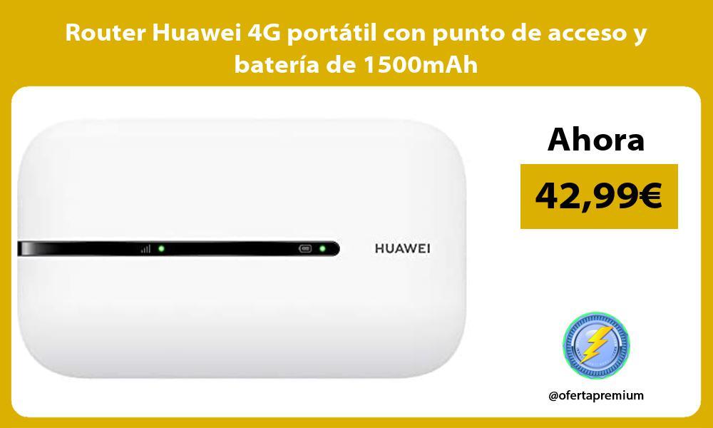 Router Huawei 4G portátil con punto de acceso y batería de 1500mAh