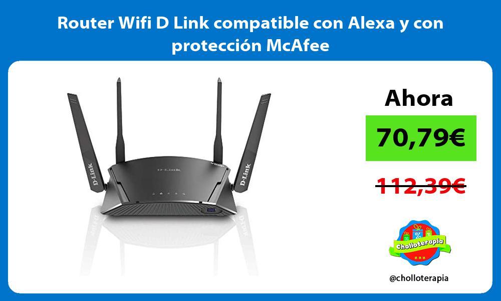 Router Wifi D Link compatible con Alexa y con protección McAfee