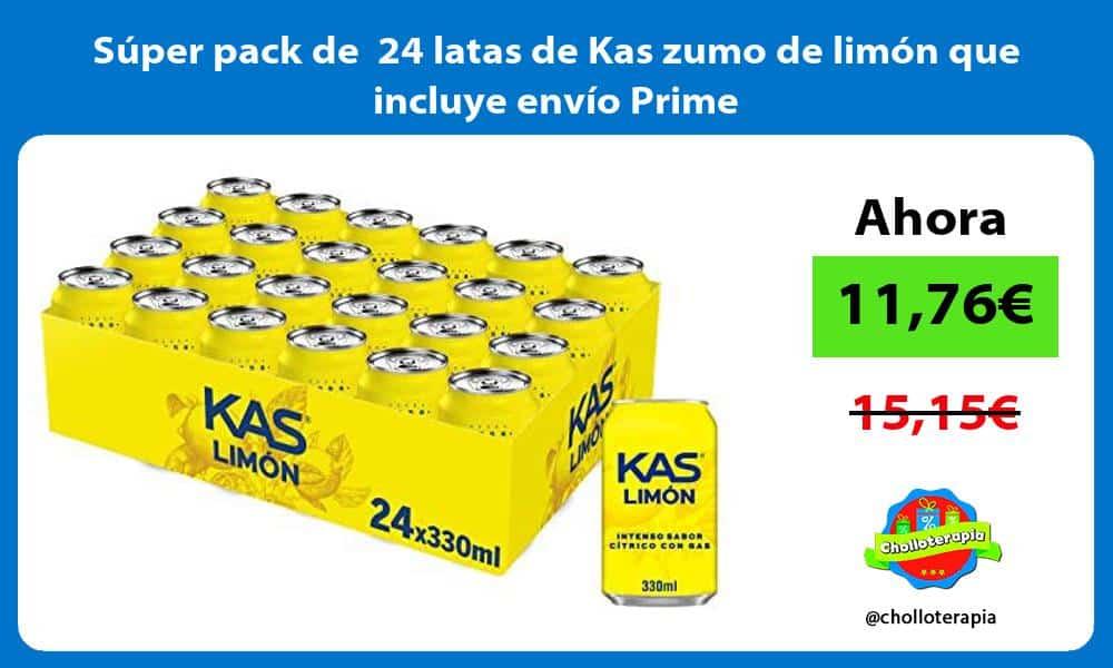 Súper pack de 24 latas de Kas zumo de limón que incluye envío Prime